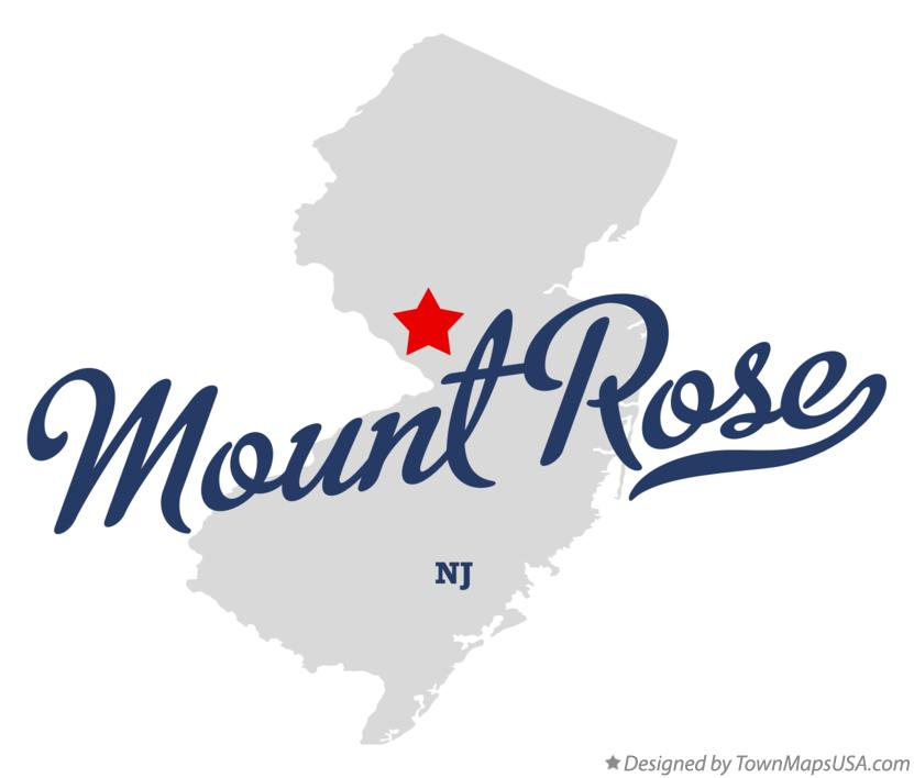 Map of Mount Rose New Jersey NJ