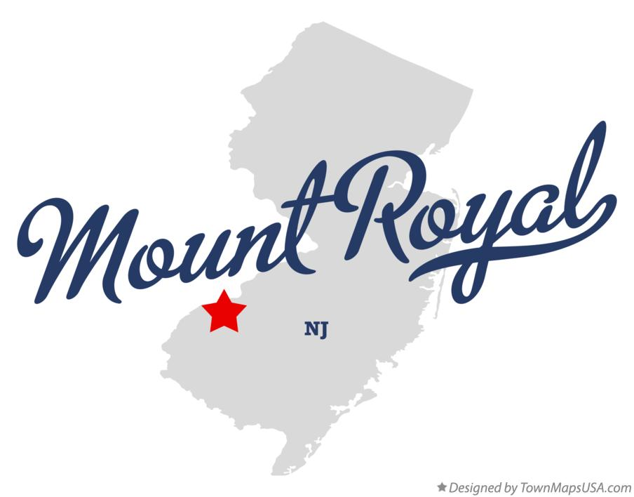 Map of Mount Royal New Jersey NJ