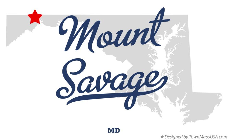 Map of Mount Savage Maryland MD