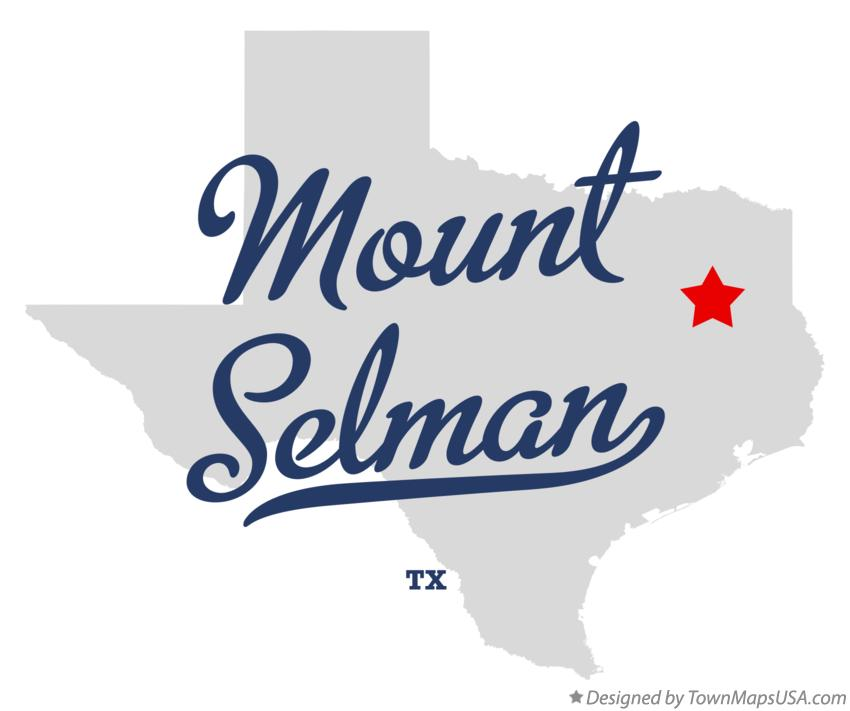 Map of Mount Selman Texas TX