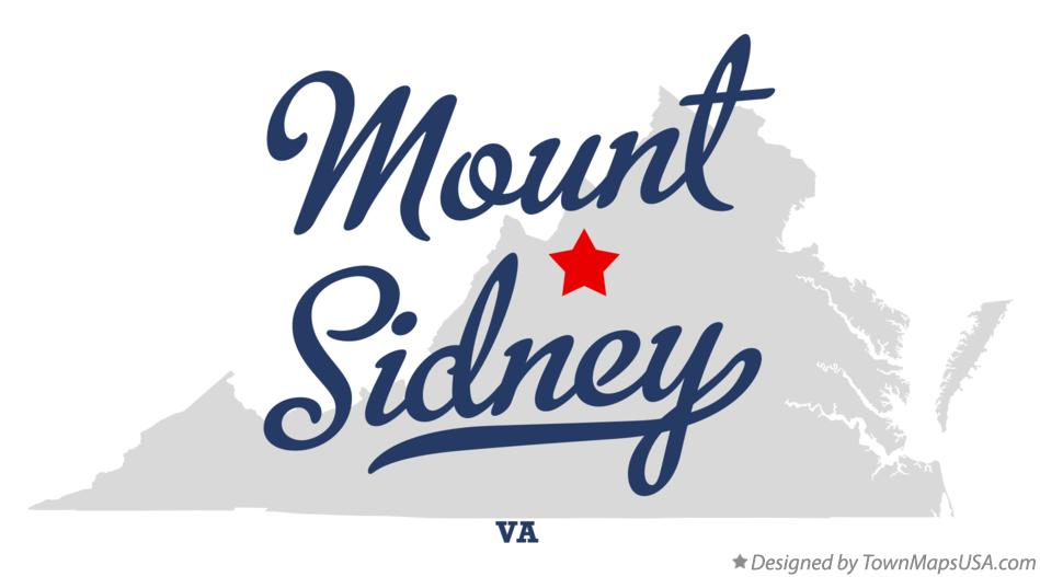 Map of Mount Sidney Virginia VA