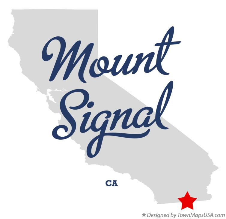 Map of Mount Signal California CA