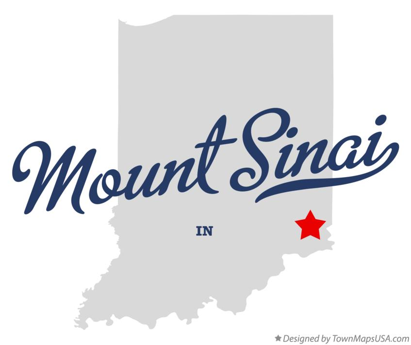 Map of Mount Sinai Indiana IN