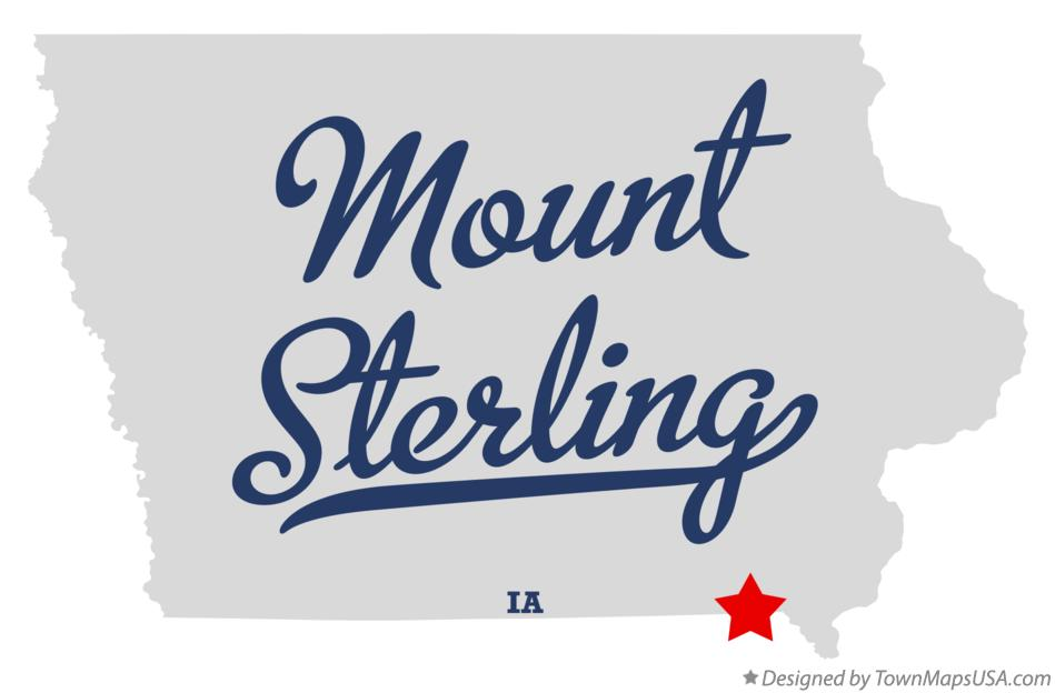 Map of Mount Sterling Iowa IA