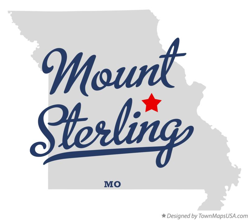 Map of Mount Sterling Missouri MO