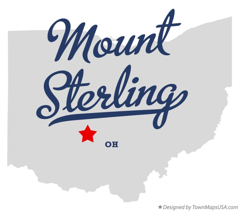 Map of Mount Sterling Ohio OH