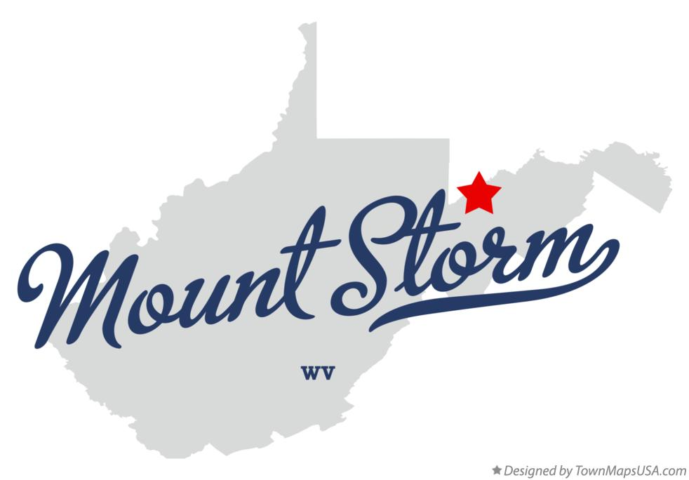 Map of Mount Storm West Virginia WV