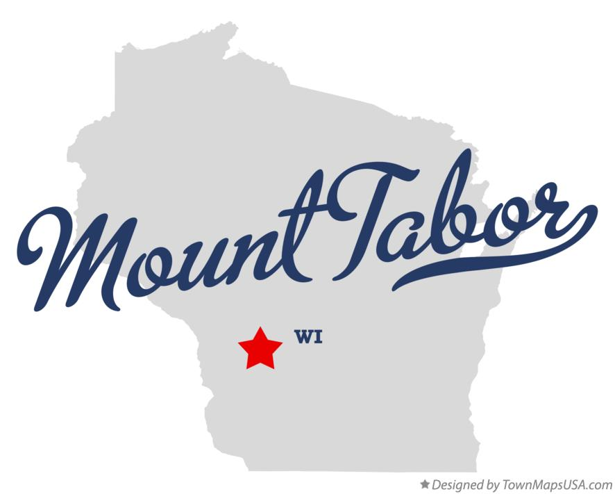 Map of Mount Tabor Wisconsin WI