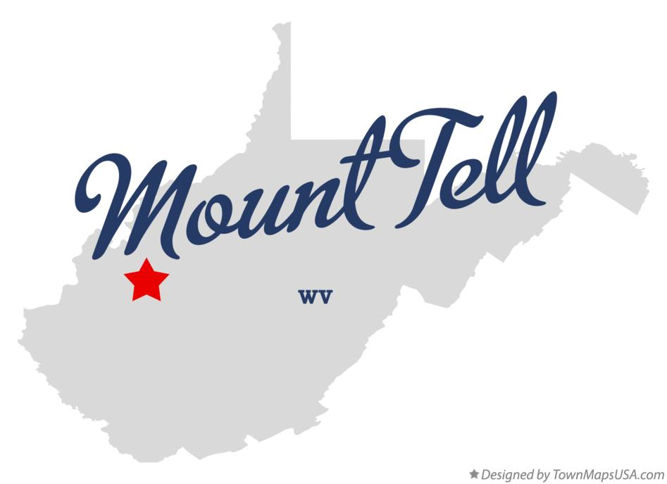 Map of Mount Tell West Virginia WV