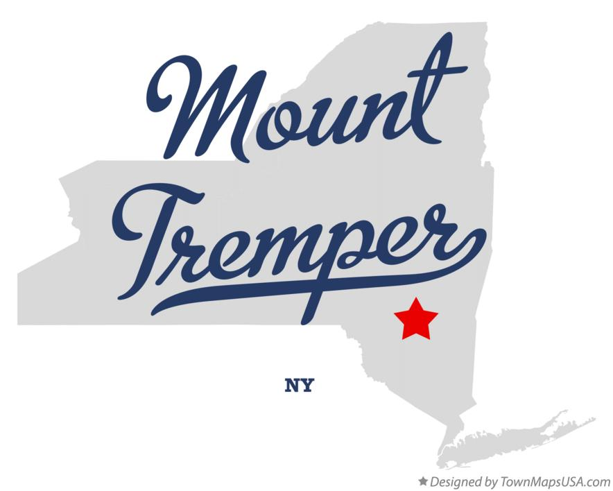 Map of Mount Tremper New York NY
