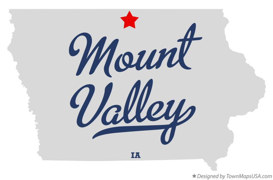 Map of Mount Valley Iowa IA