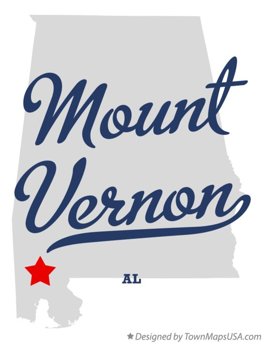 Map of Mount Vernon Alabama AL