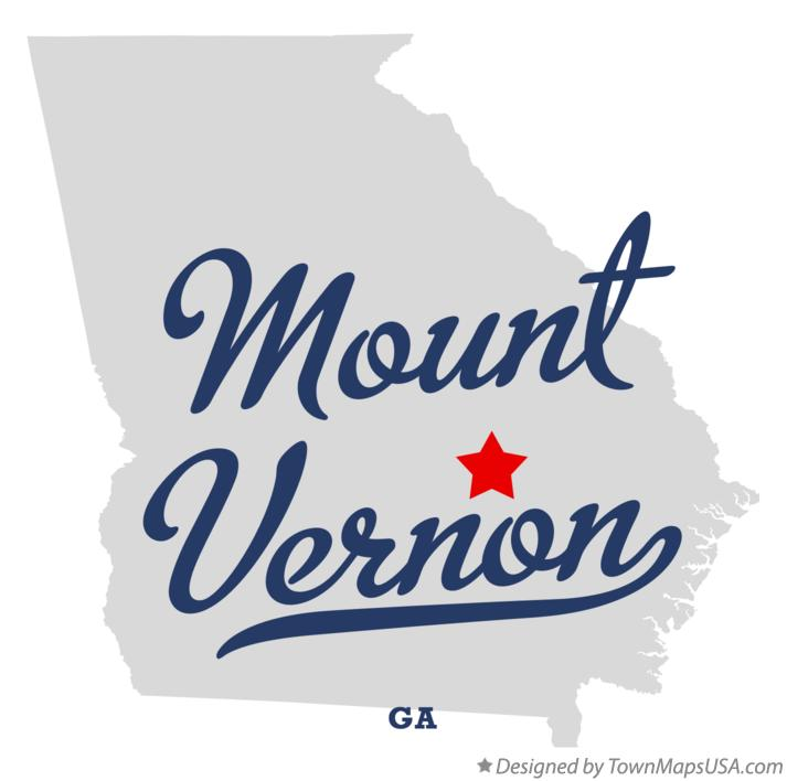Map of Mount Vernon Georgia GA