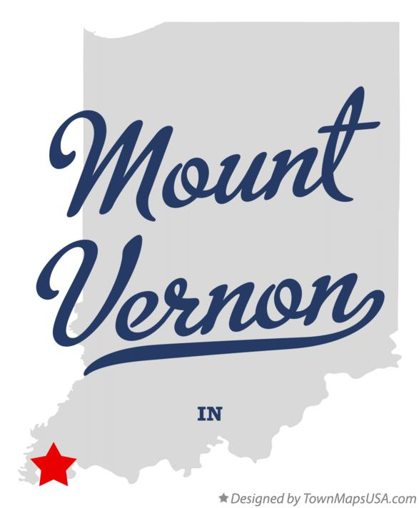 Map of Mount Vernon Indiana IN