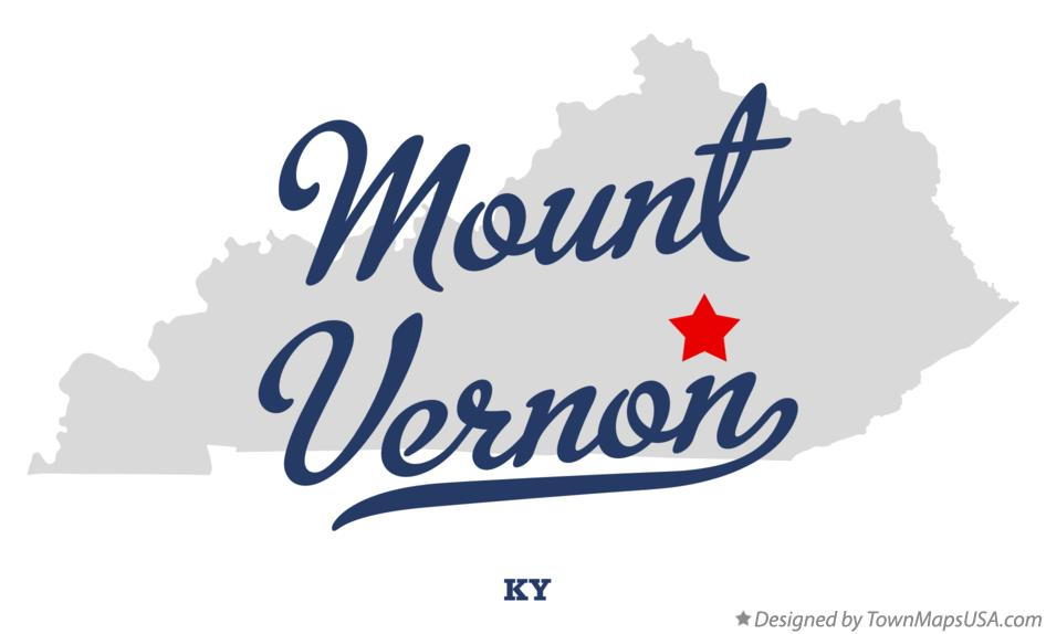 Map of Mount Vernon Kentucky KY
