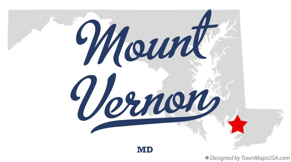 Map of Mount Vernon Maryland MD