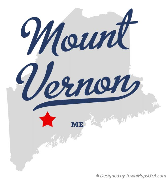 Map of Mount Vernon Maine ME