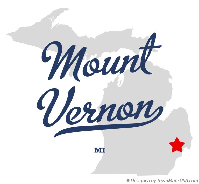 Map of Mount Vernon Michigan MI