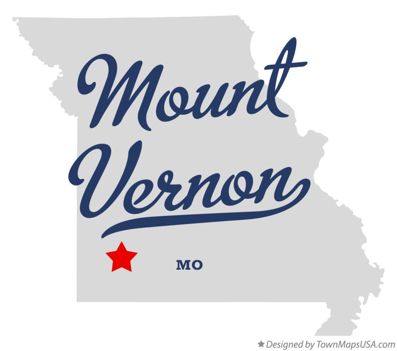 Map of Mount Vernon Missouri MO