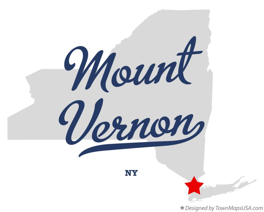 Map of Mount Vernon New York NY