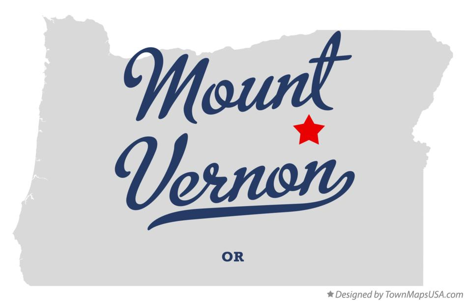 Map of Mount Vernon Oregon OR