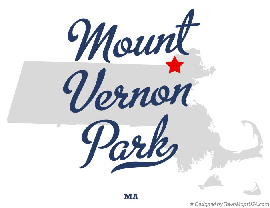Map of Mount Vernon Park Massachusetts MA