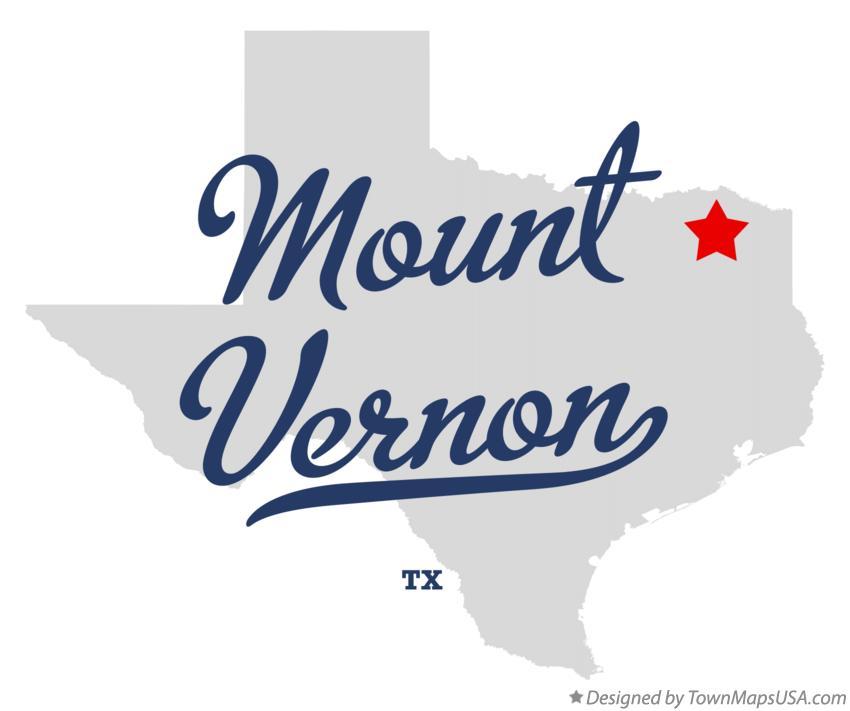 Map Of Mount Vernon Tx Texas