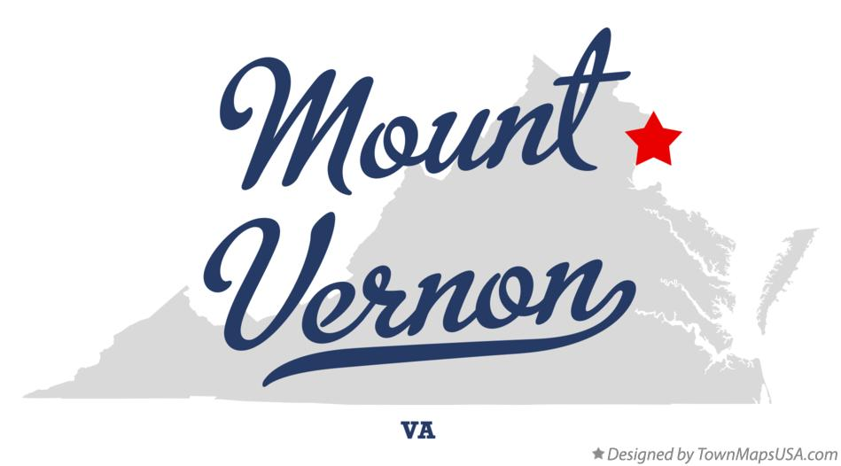 Map of Mount Vernon Virginia VA