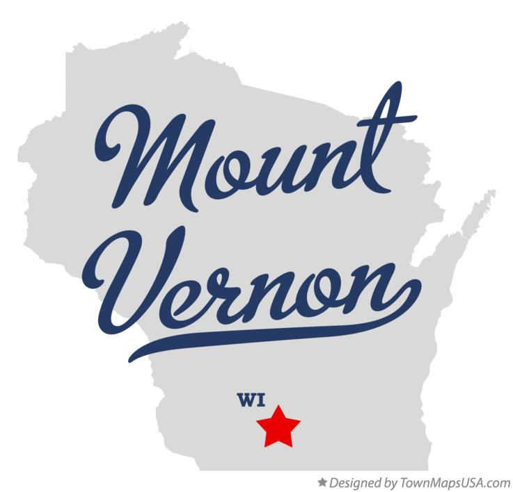 Map of Mount Vernon Wisconsin WI