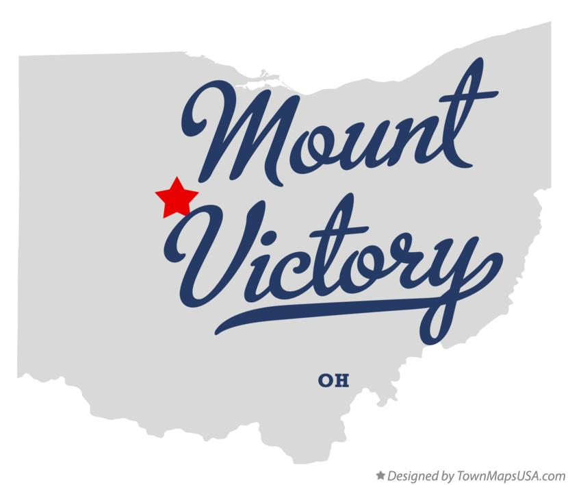 Map of Mount Victory Ohio OH