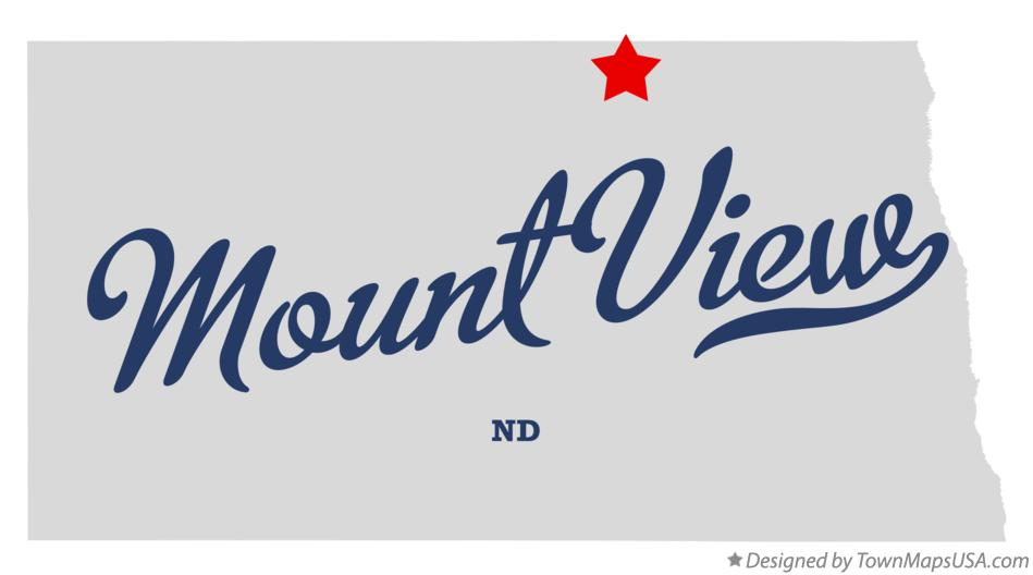 Map of Mount View North Dakota ND