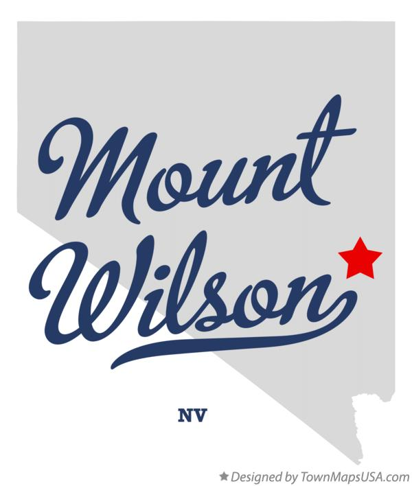 Map of Mount Wilson Nevada NV