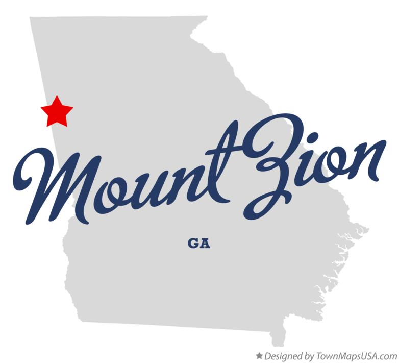 Map of Mount Zion Georgia GA