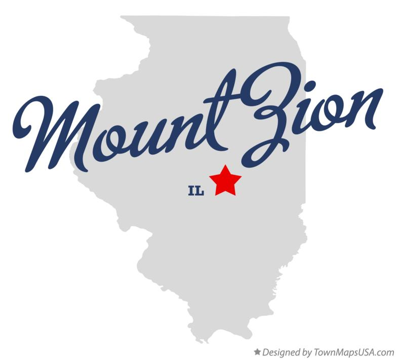 Map of Mount Zion Illinois IL
