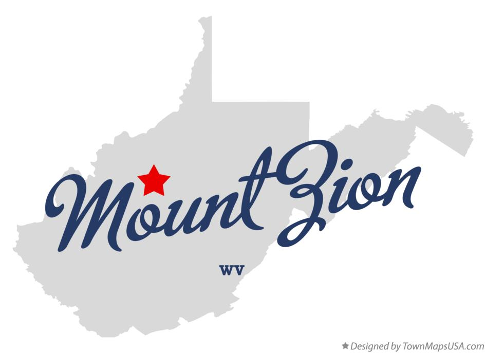 Map of Mount Zion West Virginia WV