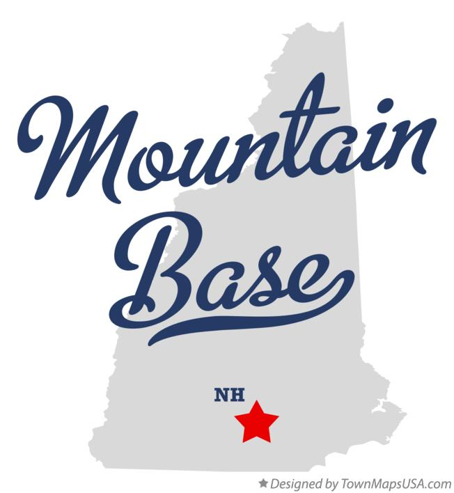 Map of Mountain Base New Hampshire NH
