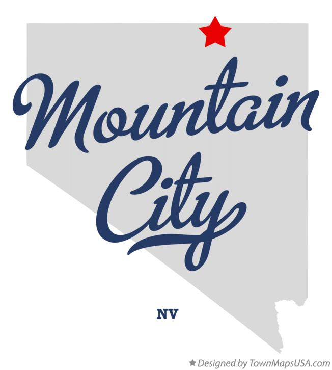 Map of Mountain City Nevada NV