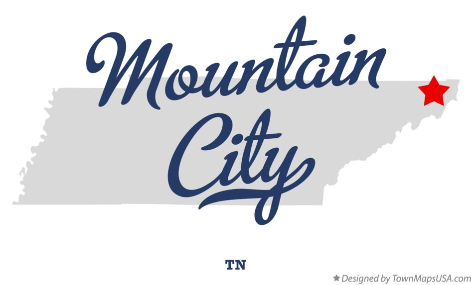 Map of Mountain City Tennessee TN