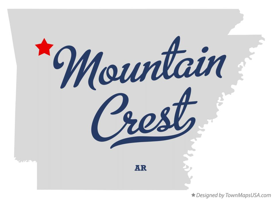 Map of Mountain Crest Arkansas AR
