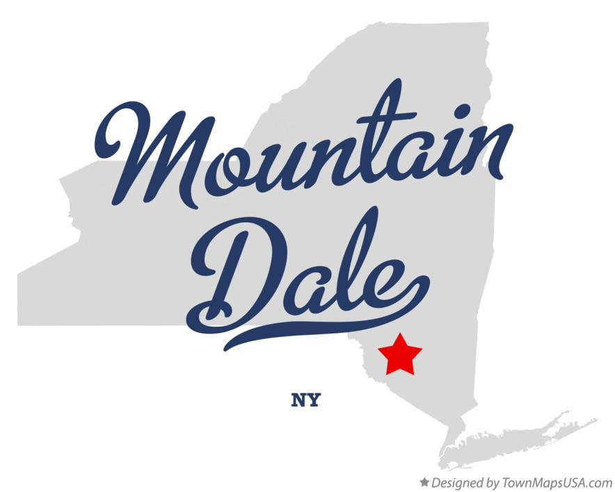 Map of Mountain Dale New York NY
