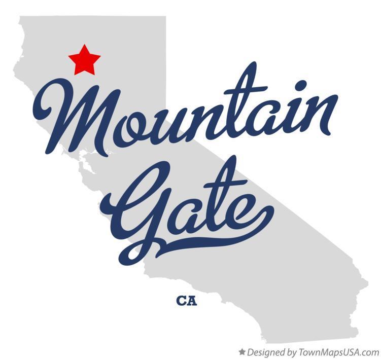 Map of Mountain Gate California CA