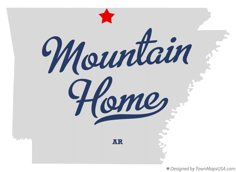 Map of Mountain Home Arkansas AR