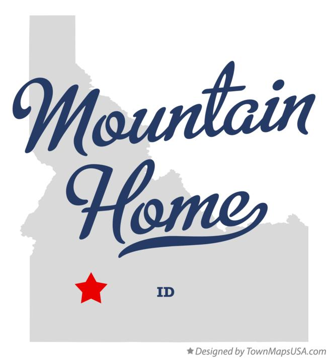 Map of Mountain Home ID Idaho
