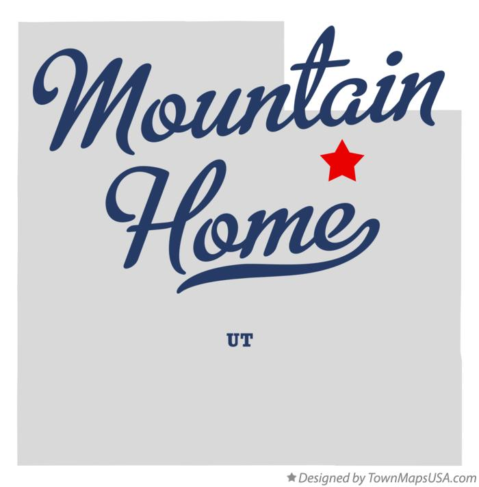 Map of Mountain Home Utah UT