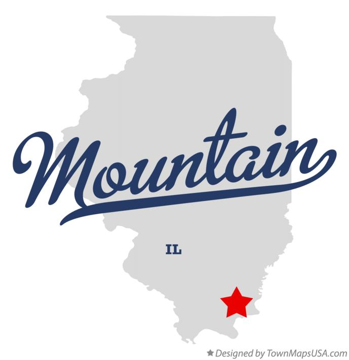 Map of Mountain Illinois IL