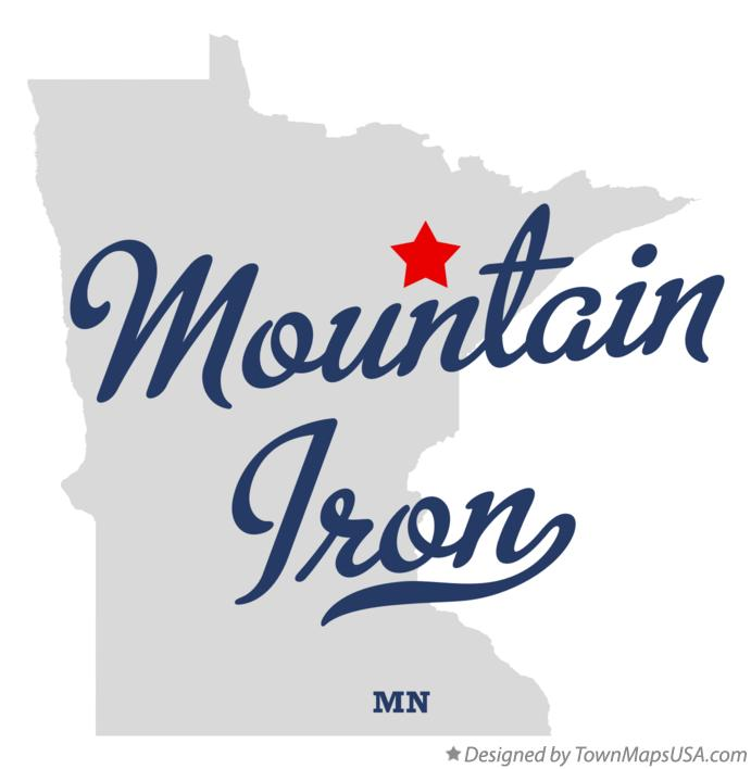 Map of Mountain Iron Minnesota MN