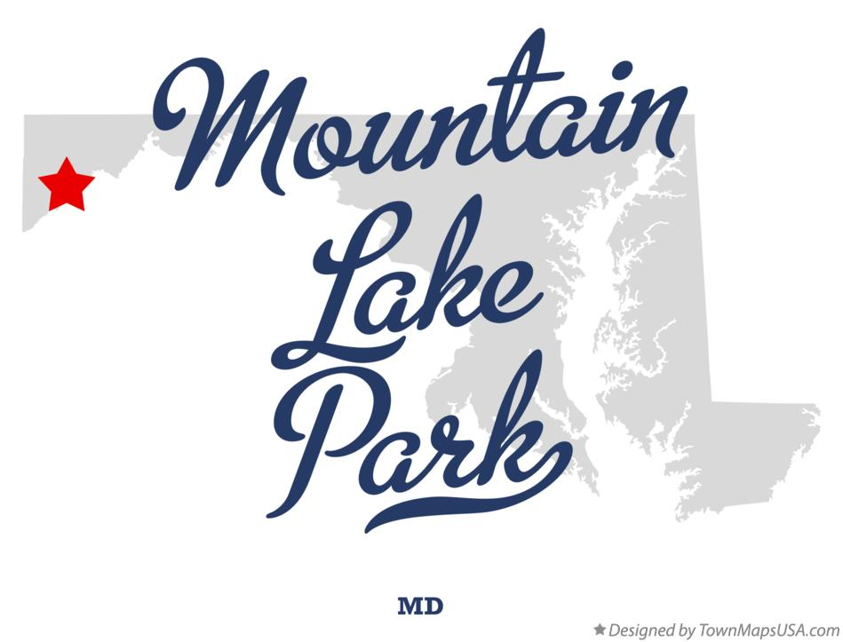 Map of Mountain Lake Park Maryland MD