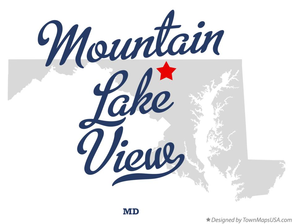 Map of Mountain Lake View Maryland MD