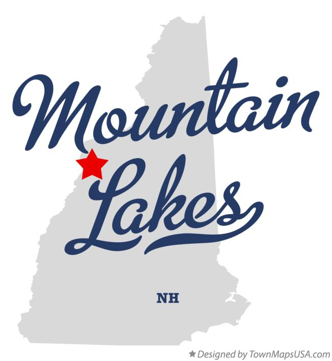 Map of Mountain Lakes New Hampshire NH