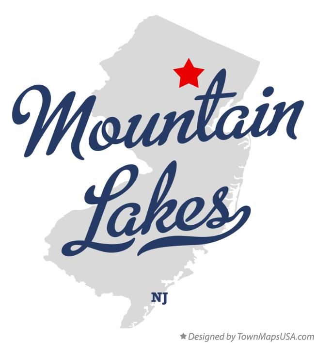 Map of Mountain Lakes New Jersey NJ